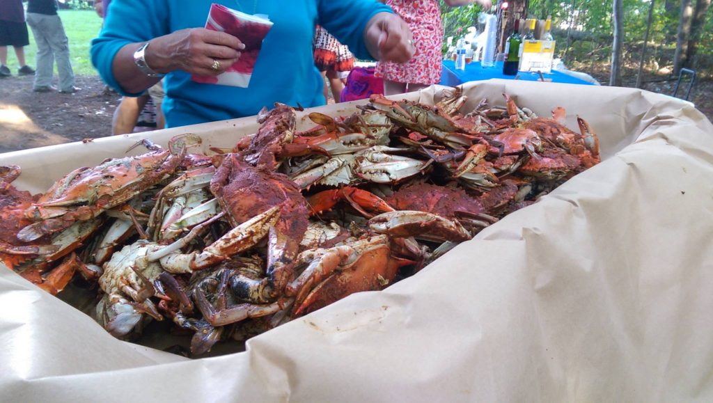 Delicious steamed crabs by caterer in Charlestown Maryland